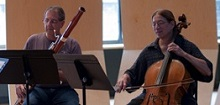bassoonist and cellist